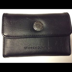 Stone Mountain Black Textured Leather Wallet